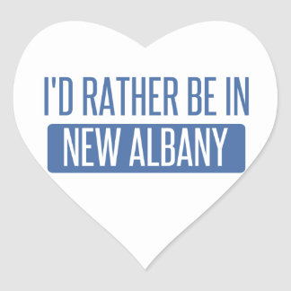 I'd rather be in New Albany Heart Sticker