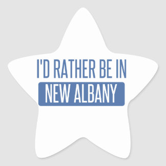 I'd rather be in New Albany Star Sticker
