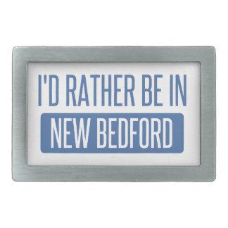 I'd rather be in New Bedford Rectangular Belt Buckle