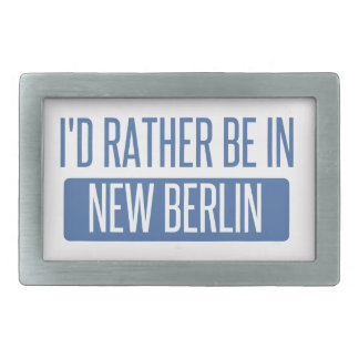I'd rather be in New Berlin Belt Buckle