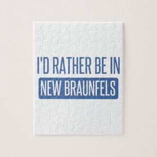 I'd rather be in New Braunfels Jigsaw Puzzle