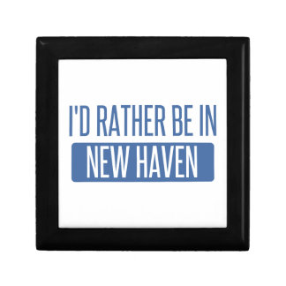 I'd rather be in New Haven Keepsake Boxes