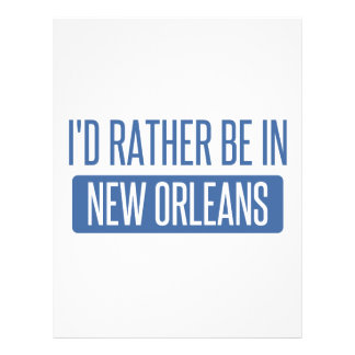 I'd rather be in New Orleans Letterhead Template