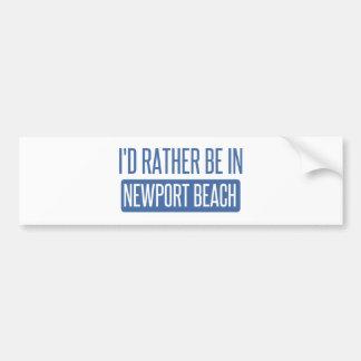 I'd rather be in Newport Beach Bumper Sticker