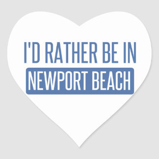 I'd rather be in Newport Beach Heart Sticker
