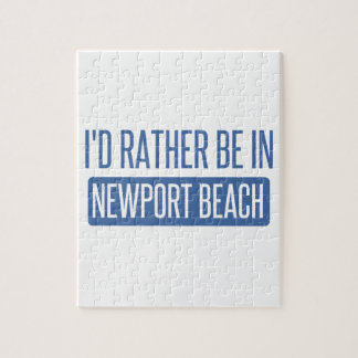 I'd rather be in Newport Beach Jigsaw Puzzle