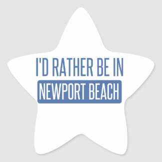 I'd rather be in Newport Beach Star Sticker