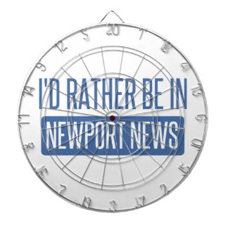 I'd rather be in Newport News Dartboard