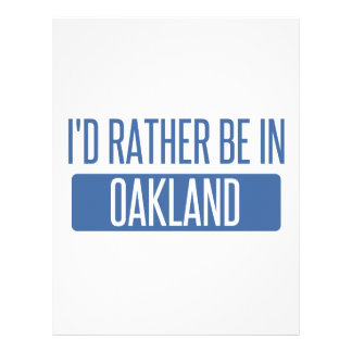 I'd rather be in Oakland Park Customized Letterhead