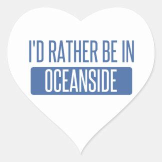 I'd rather be in Oceanside Heart Sticker