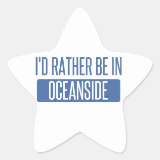 I'd rather be in Oceanside Star Sticker