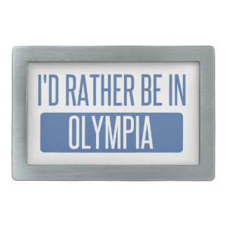 I'd rather be in Olympia Belt Buckle