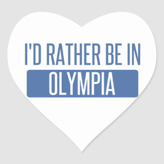I'd rather be in Olympia Heart Sticker