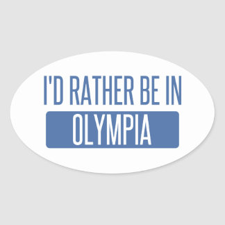 I'd rather be in Olympia Oval Sticker