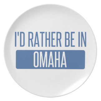 I'd rather be in Omaha Plate