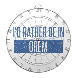 I'd rather be in Orem Dartboard