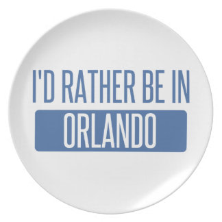 I'd rather be in Orlando Plate