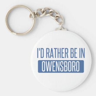I'd rather be in Owensboro Basic Round Button Keychain