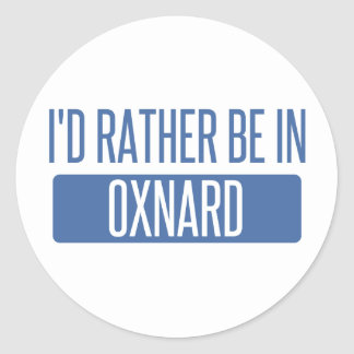 I'd rather be in Oxnard Round Sticker
