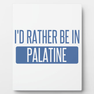 I'd rather be in Palatine Plaque