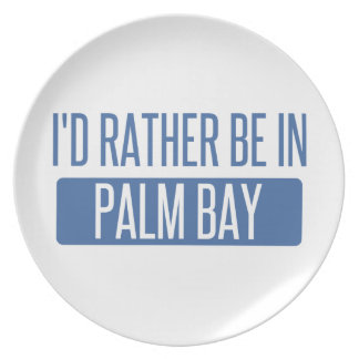 I'd rather be in Palm Bay Plate