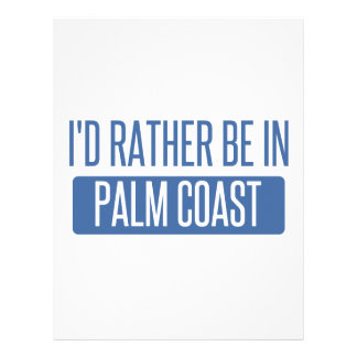 I'd rather be in Palm Coast Customized Letterhead