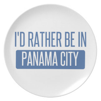 I'd rather be in Panama City Plate