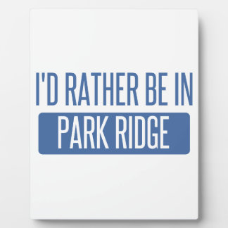 I'd rather be in Park Ridge Plaque