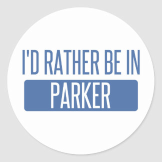 I'd rather be in Parker Classic Round Sticker
