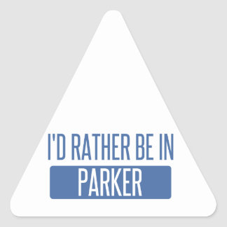 I'd rather be in Parker Triangle Sticker