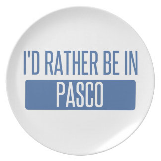 I'd rather be in Pasco Plate