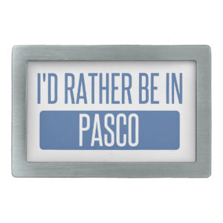 I'd rather be in Pasco Rectangular Belt Buckles