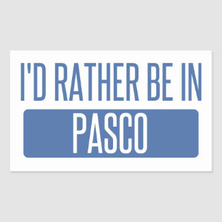 I'd rather be in Pasco Sticker