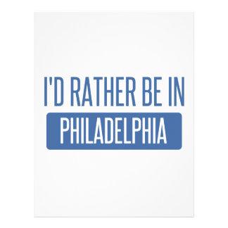 I'd rather be in Philadelphia Letterhead