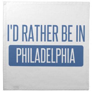 I'd rather be in Philadelphia Napkin