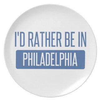 I'd rather be in Philadelphia Plate