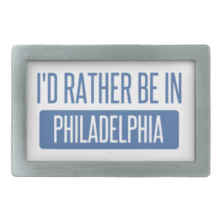 I'd rather be in Philadelphia Rectangular Belt Buckles