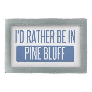 I'd rather be in Pine Bluff Rectangular Belt Buckle