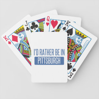 I'd rather be in Pittsburgh Bicycle Playing Cards