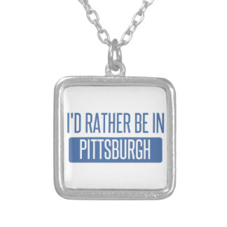 I'd rather be in Pittsburgh Silver Plated Necklace