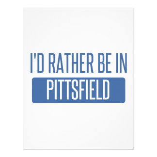 I'd rather be in Pittsfield Letterhead