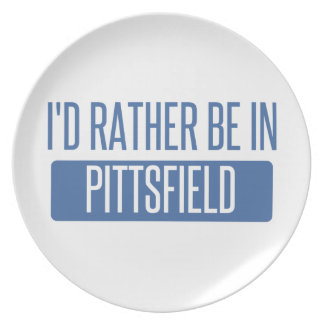 I'd rather be in Pittsfield Plate