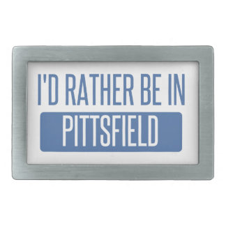 I'd rather be in Pittsfield Rectangular Belt Buckle