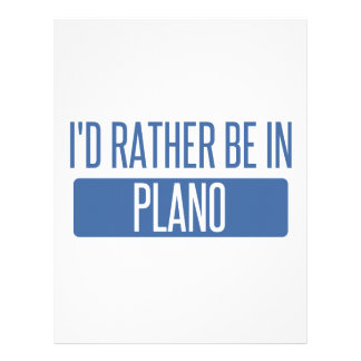 I'd rather be in Plano Letterhead