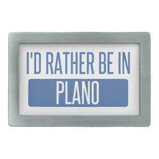 I'd rather be in Plano Rectangular Belt Buckles
