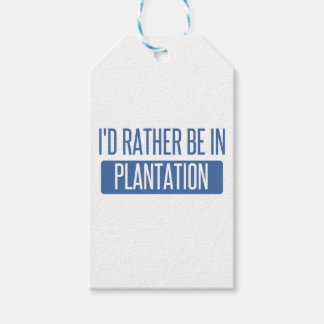I'd rather be in Plantation Pack Of Gift Tags