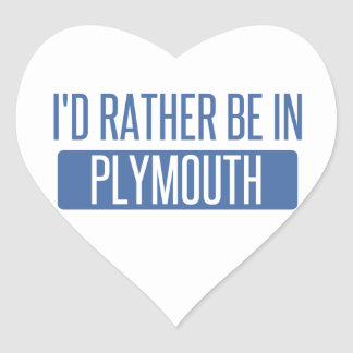 I'd rather be in Plymouth Heart Sticker
