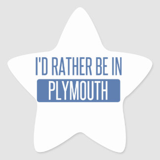 I'd rather be in Plymouth Star Sticker