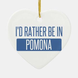 I'd rather be in Pomona Ceramic Ornament
