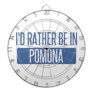 I'd rather be in Pomona Dartboard